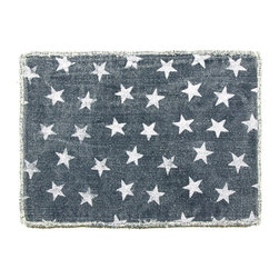 Origin Crafts - Stars placemats set/4 - Stars Placemats Set/4 Interior use. Dry clean only. Cotton. Dimensions (in):21 x 13.5 By Napa Home & Garden - Napa Home & Garden is a wholesale manufacturer of distinctive home & garden decorative accessories. Estimated Delivery Time 1-2 Weeks. Please be aware that some products are handmade and unique therefore there may be slight variations in each individual product.