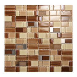 Bangles (Adam Morgan) Glass With Metal Mosaic Tile - Bangles (Adam Morgan) Glass With Metal Mosaic Tile - 12 in x 12 in