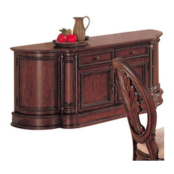 Coaster - Coaster Tabitha Traditional China Buffet in Cherry Finish - Coaster - Buffet Tables and Sideboards - 101034B