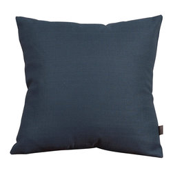 "Howard Elliott - Sterling Indigo 20"" x 20"" Pillows - Pillows are made to order. Change up color themes or add pop to a simple sofa or bedding display by piling up the pillows in a multitude of colors, textures and patterns. This Sterling Pillow features a linen-like texture in a soothing indigo color. Sterling Indigo, a soothing dark blue color with a linen-like texture. 20 in. x 20 in."