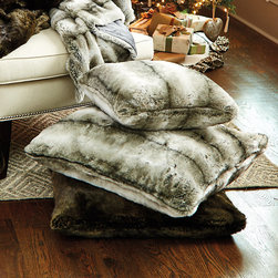 Ballard Designs - Faux Fur Pillow - Pair with our Faux Fur Throw. Available in two rich colors. Plush feather-down insert. Acrylic. Buy two because you'll want to keep one for yourself. Our Faux Fur Pillow is so soft and silky, it's hard to believe it's faux. Toss it anywhere to add warm luxurious texture that no one can resist touching. Faux Fur Pillow features: . . . .