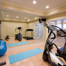 Contemporary Home Gym by Heartstone Custom Builders
