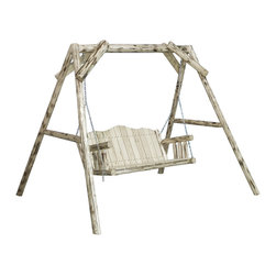 Montana Woodworks - Montana Woodworks Lawn Swing with Frame in Grade Oil Exterior - Imagine the rustic beauty of this lawn swing gracing your yard, deck or lawn. Swing away the tensions of your day while enjoying the elegance of rustic lawn furniture. Handcrafted by the artisans of Montana Woodworks using solid, American grown wood, this lawn swing is designed to last for generations. Some assembly required. 20-year limited warranty included at no additional charge.