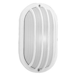 Progress Lighting - Progress Lighting P5705-30 Polycarbonate Outdoor Wall Light - Polycarbonate light for indoor and outdoor areas. Colors will not fade and parts will not corrode. UV stabilized. UL listed for wet locations. Wall mount only.
