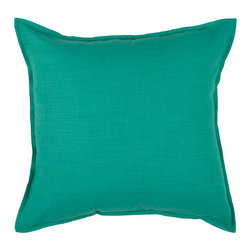 Rizzy Rugs - Rizzy Home Turquoise 20 Inch x 20 Inch Pillow Cover with Hidden Zipper - - Pillow Cover with Hidden Zipper  - Cotton Slub Fabric  - Self Flange Detail  - Primary Color - Turquoise  - Secondary Color - Turquiose  -  Machine Wash on Gentle Cycle with Mild Detergent.  Lay Flat to Dry. Rizzy Rugs - T03714