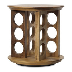 Tuscany Revolving Spice Rack - A rotating spice rack is a practical choice. I love this simple wooden one.