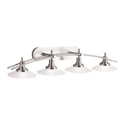 """Kichler - Kichler 6464NI Structures 40"""" Wide 4-Bulb Bathroom Lighting Fixture - Product Features:"""
