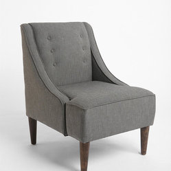 Madeline Chair, Gray - This handsome chair is like the perfect suit: It's great looking and looks great on you. It is also pretty affordable, which is always a plus. Two of these in your living room would be a wonderful addition to a complicated seating arrangement.