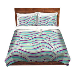 DiaNoche Designs - Duvet Cover Microfiber by Pom Graphic Design - Summer Fields - DiaNoche Designs works with artists from around the world to bring unique, artistic products to decorate all aspects of your home.  Super lightweight and extremely soft Premium Microfiber Duvet Cover (only) in sizes Twin, Queen, King.  Shams NOT included.  This duvet is designed to wash upon arrival for maximum softness.   Each duvet starts by looming the fabric and cutting to the size ordered.  The Image is printed and your Duvet Cover is meticulously sewn together with ties in each corner and a hidden zip closure.  All in the USA!!  Poly microfiber top and underside.  Dye Sublimation printing permanently adheres the ink to the material for long life and durability.  Machine Washable cold with light detergent and dry on low.  Product may vary slightly from image.  Shams not included.