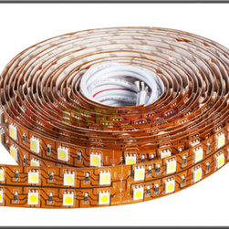 Double Row 12V DC 600X 5050 Waterproof IP20 Flexible LED Strip lights - 120 LEDs - This is single color super bright 5050 SMD(SMD:Surface Mounted Devices) waterproof IP20 LED flexible strip lights , 6 chip , 120LEDs/M, Available in 5 meters (197 in ) lengths.
