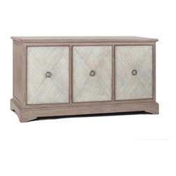 Gabby - Gabby Ansley Parched Oak Cabinet - Material: OakFinish: Parched Oak & Ivory DistressCreated out of sturdy oak, the Ansley Parched Oak Cabinet features ample storage perfect for any space. The cabinet is finished in a parched oak, creating a timeless, neutral piece of furniture.