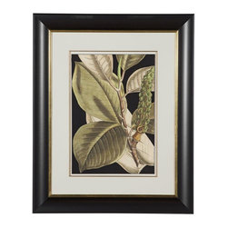 Bassett Mirror - Tranquil Tropical Leaves II Framed Art - Tranquil Tropical Leaves II Framed Art by Bassett Mirror
