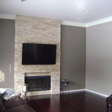 Contemporary Family Room by Jill J. Wallace, Color Redesign