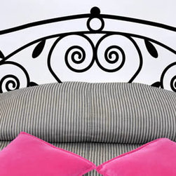 Headboard wall decals - Another fabulous piece from our headboard wall collection. A simple but elegant design is featured on this removable wall decal. Swirls and leaves add a grace to this self-adhesive piece. Starts at $45.