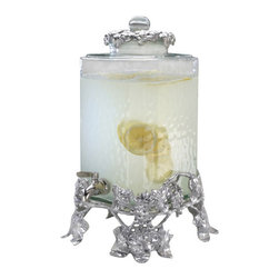 Arthur Court - Grape Beverage Server - Simulate a spa for a shower or concoct a punch for a self-serve buffet — both are fun and elegant ways to keep your guests hydrated. An ornate grape beverage server holds 2.5 gallons and sits upright on rococo feet .... bottoms up!