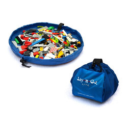 "Lay-n-Go - Lay-n-Go LITE, 18"", Blue - Lay-n-Go® LITE (patent pending) is an 18 inch travel/mini activity mat that converts into an easily transportable satchel allowing for a quick and effortless clean-up of small toy pieces in seconds.  Toy collections used on the Lay-n-Go surface are easily spread out for hours of fun at restaurants, on airplanes, in cars, at Grandma's house, etc.  Once playtime is over, the drawstring is pulled and the activity mat is instanly converted back into a soft storage bag.  Lay-n-Go LITE is small, but like its big brother/sister, it is a smart and easy personal activity mat, cleanup, storage and handy little carryall solution in one."