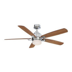 "Fanimation Benito 52 in. Indoor Ceiling Fan with Light - A classically designed ceiling fan suitable for just about anywhere the Fanimation Benito 52 in. Indoor Ceiling Fan with Light offers three speeds in forward and reverse and is available in a variety of finish and blade color combinations. Five blades with a 13-degree pitch offer a 52-inch sweep and this fan is compatible with ceiling slopes up to 32 degrees. A matching cap is included to cover the light and a remote is included for easy operating. About Fanimation27 years ago in a Pasadena garage Tom Frampton pursued a desire to create innovative high-quality ceiling fans by producing his very first design the Punkah. Before long the market began to take notice of Tom's designs and Fanimation was born. Today Fanimation offers its products in over 1 500 retail stores and 33 countries. Fanimation's unique designs have been used in magazines such as Vanity Fair and Modernism as well as gracing both the large and small screens on HGTV and Extreme Makeover Home Edition and the film """"I Robot""""."