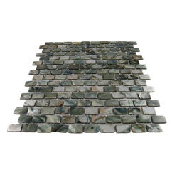 Mini Brick Anchor Gray Pearl Tile Pattern, Sheet