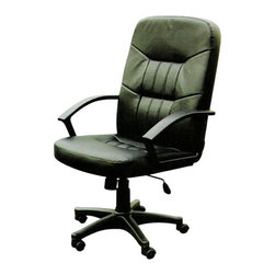 """ACMACM02340 - Simple High Back Executive Office Chair with Pneumatic Lift and Casters - Simple high back executive office chair with pneumatic lift and casters. Measures 25"""" x 27"""" x 46""""H. Some assembly required."""
