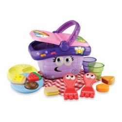 Leap Frog - LeapFrog Shapes & Sharing Picnic Basket - Your child will enjoy pretend picnics any time of the year with the LeapFrog Shapes & Sharing Picnic Basket.