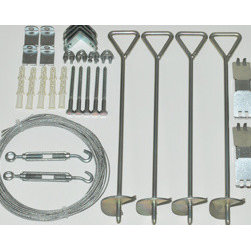 Poly-Tex, Inc. - Greenhouse Cable Anchor Kit - Prevents green house from becoming damaged in ustable weather