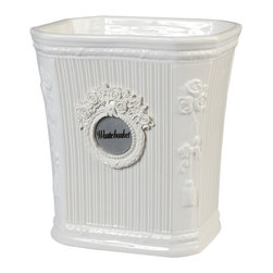 Creative Bath Products - Can Can Wastebasket by Creative Bath Products - CAN54NAT - Shop for Wastebaskets from Hayneedle.com! Featuring a beautiful apothecary-style look marked by stripes and a mirrored medallion the Can Can Wastebasket by Creative Bath Products makes an eye-catching addition to your bathroom. This ceramic wastebasket is part of the Can Can bathroom decor collection (other pieces sold separately).About Creative BathFor over 30 years Creative Bath has developed innovative stylish bathroom decor items. They have grown exponentially and now you can find their products in major retail and online stores around the world. From shower curtains to soap dishes and everything in between Creative Bath brings you high quality items to enhance your lifestyle.