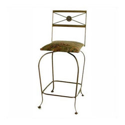 "Grace - Neoclassic 24"" Swivel Counter Stool - Features: -Painted according to your choice of metal finish. -Ships fully assembled. -Dimensions: 18"" W x 20"" D x 43"" H. -Seat height: 30"". -Artistically crafted in wrought iron. -Available in 12 designer metal finishes. -Suited for Residential use only. About Grace Grace Manufacturing is a metal and wrought iron furniture manufacturing company located in Rome, GA. The company has been in business for 25 years and continues to employ skilled artisans and craftsmen. In addition to their state of the art manufacturing equipment they still assemble and finish many products by hand. Many items in the Grace Collection are fully hand made or hand painted. With products ranging from barstools, counter stools, and dinettes to wrought iron beds, hanging potracks, bakers racks and more, Graces line meets all professional and home needs. By implementing unique styles and ideas to traditional products, Grace has created an exceptional balance between creativity and practicality. Their design styles range somewhere between whimsical, neo classic and traditional, thus creating a truly astonishing decor for any inside space."
