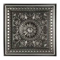 CT-215 Ceiling Tile - Antique Silver - Made from UV stabilized .35 mm vinyl thermoplastic.These tiles may be used in a grid system. These tiles are easy to install, easy to clean, stain and water resistant, resource friendly and delivered direct to your door! Please note that there is no minimum order on our in stock ceiling skins, so you may order single tiles if you want to see what they look like before placing a larger order.