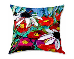 DiaNoche Designs - Pillow Woven Poplin from DiaNoche Designs by AjabyAnn Stories From a Field ccxxx - Toss this decorative pillow on any bed, sofa or chair, and add personality to your chic and stylish decor. Lay your head against your new art and relax! Made of woven Poly-Poplin.  Includes a cushy supportive pillow insert, zipped inside. Dye Sublimation printing adheres the ink to the material for long life and durability. Double Sided Print, Machine Washable, Product may vary slightly from image.