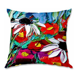 DiaNoche Designs - Pillow Woven Poplin by AjabyAnn Stories From a Field ccxxx - Toss this decorative pillow on any bed, sofa or chair, and add personality to your chic and stylish decor. Lay your head against your new art and relax! Made of woven Poly-Poplin.  Includes a cushy supportive pillow insert, zipped inside. Dye Sublimation printing adheres the ink to the material for long life and durability. Double Sided Print, Machine Washable, Product may vary slightly from image.