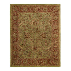"""Nourison - Nourison Jaipur JA50 5'6"""" x 8'6"""" Olive Area Rug 30068 - The pleasure of an olive grove is captured in the colors of this tasteful rug. Warm pimento and pale ivory add elegant contrast, highlighting lively details with luxurious effect. An exquisite and sophisticated choice."""