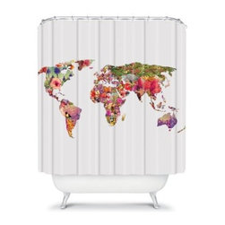 DENY Designs Bianca Green World Shower Curtain - Geography class would have been way more fun if the maps looked like the ultra stylish DENY Designs Bianca Green World Shower Curtain. The modern, colorful graphic features a variety of colors and patterns for a look that you'd travel the world to find.About DENY DesignsDenver, Colorado based DENY Designs is a modern home furnishings company that believes in doing things differently. DENY encourages customers to make a personal statement with personal images or by selecting from the extensive gallery. The coolest part is that each purchase gives the super talented artists part of the proceeds. That allows DENY to support art communities all over the world while also spreading the creative love! Each DENY piece is custom created as it's ordered, instead of being held in a warehouse. A dye printing process is used to ensure colorfastness and durability that make these true heirloom pieces. From custom furniture pieces to textiles, everything made is unique and distinctively DENY.