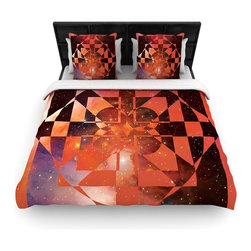 "Kess InHouse - Matt Eklund ""Galactic Hope Bittersweet"" Red Orange Cotton Duvet Cover (King, 104 - Rest in comfort among this artistically inclined cotton blend duvet cover. This duvet cover is as light as a feather! You will be sure to be the envy of all of your guests with this aesthetically pleasing duvet. We highly recommend washing this as many times as you like as this material will not fade or lose comfort. Cotton blended, this duvet cover is not only beautiful and artistic but can be used year round with a duvet insert! Add our cotton shams to make your bed complete and looking stylish and artistic!"