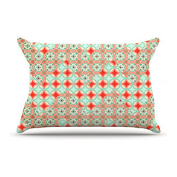 """Kess InHouse - Catherine McDonald """"Traveling Caravan"""" Red Pattern Pillow Case, Standard (30"""" x - This pillowcase, is just as bunny soft as the Kess InHouse duvet. It's made of microfiber velvety fleece. This machine washable fleece pillow case is the perfect accent to any duvet. Be your Bed's Curator."""