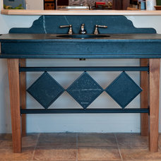 Eclectic Bathroom Vanities And Sink Consoles by Green Mountain Soapstone