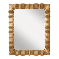 "Murray Feiss - Murray Feiss MR1147 Lavine 50"" High Rectangular Mirror - With it's curvy gold frame, this mirror from the Lavine Collection looks like a perfect addition to the room of a princess.Features:"