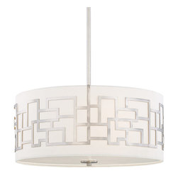 Kovacs - Kovacs P197-084 4 Light Drum Pendant from the Alecia's Necklace Collection - Four Light Drum Pendant from the Alecia's Necklace CollectionFeatures: