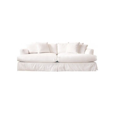 Eco Friendly Furnture and Lighting - martha vineyard slipped sofa.goodwood frame with water-based finish,100% white cotton removable slipcover (fabric swatches are available upon request). fill: poly with foam wrap of which more than 20% is plant based, the core is encased in a down-proof ticking filled with 75% recyclable fiber and 25% feather/down. enviro-fresh washing is performed twice to eliminate dust, dirt and allergens. manufactured by american employee-owned, family and community oriented company, whose goal it is to provide customers with environmentally sound, superior products that can be enjoyed for years to come.