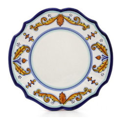 Artistica - Hand Made in Italy - PRINCIPE: Scalloped Dinner plate - PRINCIPE Collection: Classico Dinnerware