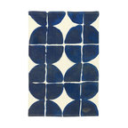 Dot-Grid Printed Cotton Mat - I love this rug and am still riding the tribal train. I may never get off!