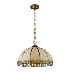 ELK Lighting - Five Light Solid Brushed Brass Down Chandelier - Five Light Solid Brushed Brass Down Chandelier