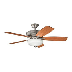 "Kichler - 52"" Monarch II Select 52"" Ceiling Fan Antique Pewter - Kichler 52"" Monarch II Select Model KL-339213AP in Antique Pewter with Cherry finished blades."