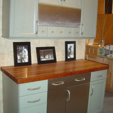 Eclectic Kitchen Cabinetry by Fingerle Lumber