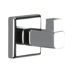 Gedy - Polished Chrome Hook - Polished chrome squared robe, towel, or clothes hook.