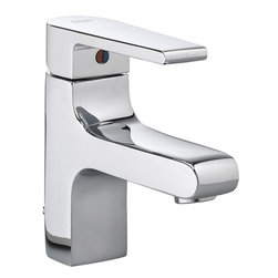 American Standard - American Standard 2590.101.002 Studio Monoblock Lavatory Faucet, Polished Chrome - American Standard 2590.101.002 Studio Single Control Monoblock Lavatory Faucet, Polished Chrome. This single lever handled bathroom faucet features a brass construction, a ceramic disc valve cartridge, an adjustable hot limit safety stop, a lead-free composition, and a Speed Connect metal drain with fewer parts and an easier installation.