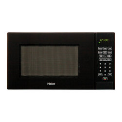 Haier America - Haier 0.9 Cubic-Foot 900W Microwave Black - 0.9 Cu. Ft. / 900 Watt Touch Microwave Black.  Electronic Touch Controls with LED Display, 10 Power Levels, 6 Cooking Controls, Auto and time Defrost, Child Safety Lock.