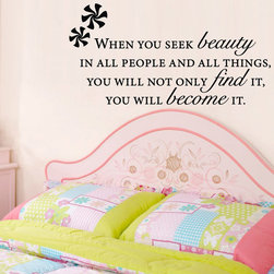 ColorfulHall Co., LTD - Kids Wall Decals You Will Seek Your Beauty - Kids Wall Decals You Will Seek Your Beauty