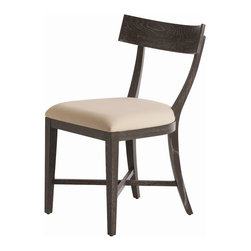 Arteriors - Caden Chair - This solid wood chair with gray limed oak finish is perfect for a desk chair or for dining. The horizontal cross bars at the feet and the back support construction guarantee this will last.
