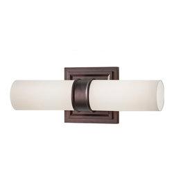 Feiss - Feiss VS38002-DPZ Lucas 2 Light Dark Plated Bronze Bathroom Wall Sconce - Finish: Dark Plated Bronze