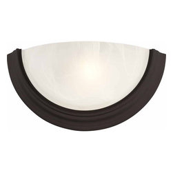 "Volume Lighting - Volume Lighting V6751 Lunar 7.5"" Height Wall Sconce with 1 Light - 7.5"" Height Wall Sconce with 1 Light from the Lunar CollectionCharming and endearing, this 1 light wall sconce features brilliant white alabaster glass.Features:"